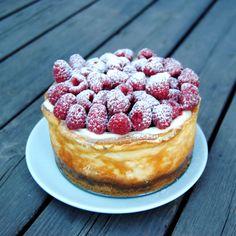 Recept på New york cheesecake med hallon Foto: Sofia Henriksson