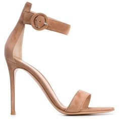 Gianvito Rossi 'Portofino' sandals ($850) ❤ liked on Polyvore featuring shoes, sandals, heels, ankle wrap sandals, high heel stilettos, strappy sandals, open toe sandals and ankle strap sandals