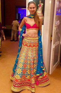 Such a pretty unique lehenga! #unique #indian #manisharora #bridal #indianbride #indianfashion