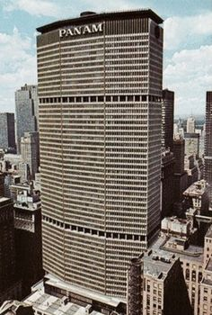 emery roth and sons, pan am building new york 1960 I loved the perks of working here but after Lockerbie I moved on! Pan Am, The Bowery Boys, New York Buildings, Blue Building, Walter Gropius, New York City, Architecture Design, Aviation, Places To Visit