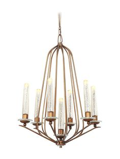 Mercury Glass Madison 7-Light Chandelier by Varaluz at Gilt