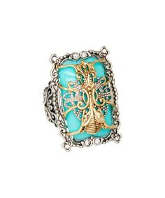 Turquoise Antique-Statement Ring #zulily #zulilyfinds