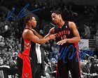 "For Sale - DeMar Derozan Kyle Lowry Toronto Raptors Signed 8x10"" Photo Autograph Reprint - http://sprtz.us/RaptorsEBay"