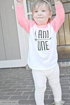 """Gracie + Hatcher """"I AM ONE"""" Tee:  Review & Giveaway on Fawn Over Baby Blog  #babyfashion #babytee #giveaway #babygiveaway"""