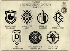 Tariel's Notable Organizations - Part 2 by Levodoom.deviantart.com on @DeviantArt