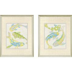 Paragon Jade Koi by Zarris Contemporary Art Set - Jade Koi Series
