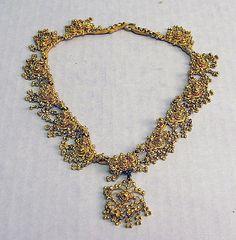 Gold Necklace  Date: 19th century Culture: India    Metropolitan Museum
