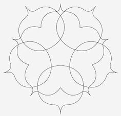 Five-point bracket Zendala template