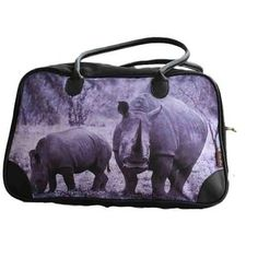 Cotton Road Kit Bag with Rhino Print