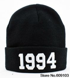 JUSTIN BIEBER 1994 BLACK Beanies Hats Hip-Hop wool winter Cotton knitted warm caps Snapback hat for man and women 1pcs $9.99