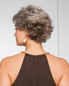 Find the Resolve by Gabor Wigs. Soft layers in the front with an easy-care, brushed-up back. A timeless fluff to love again. Grey Wig, Short Grey Hair, Short Straight Hair, Short Hair With Layers, Short Hair Cuts, Soft Layers, Trending Hairstyles, Easy Hairstyles, Straight Hairstyles