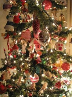 Vintage ornament tree