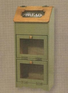 This is what I need in my kitchen - Amish Vegetable Bin Bread Box Potato Storage Solid Wood Cupboard Cabinet New