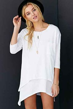 Silence + Noise In The Pocket Long-Sleeve Tee - Urban Outfitters $49 *Size S Color White
