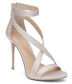 Silver Shoes Heels, Satin Shoes, Strappy High Heels, Strappy Sandals, Ivory Sandals, Metallic Sandals, Heeled Sandals, Ankle Strap Shoes, Open Toe Shoes