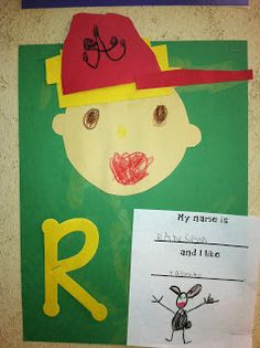 Good activity for when we discuss names and the beginning letter!  Mrs. Cates' Kindergarten: Beginning Of The Year