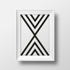Modern printable wall art, printable black and white design poster, modern art instant download print, minimalistic art print modern poster