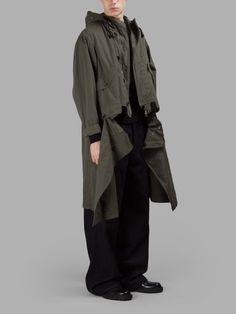 DRIES VAN NOTEN DRIES VAN NOTEN MEN'S GREEN PARKA. #driesvannoten #cloth #coats