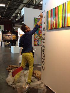 David Ferreira dédicace le stand de la Colorfield