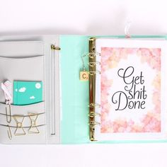 This year's motto is on my planner dashboard. See more of my planner updates on the blog today via http://ift.tt/1DZTHxJ #getshitdone #sorryforcursing by claireabellemakes