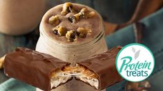 Snickers Shake - Protein Treats By Nutracelle Protein Shake Recipes, Protein Foods, Protein Shakes, Snickers Protein, Healthy Baking, Nut Free, Food Videos, Sugar Free, Clean Eating