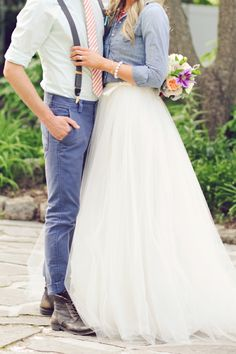 LOVE!!!!!!  Feminine and masculine, very comfy, photographs well color-wise ... I could go on and on about Denim and Watercolor Wedding Ideas!!!