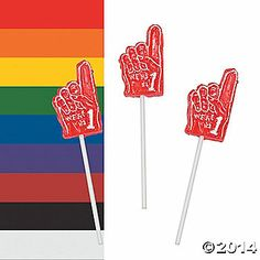 We're #1 Finger-Shaped Suckers