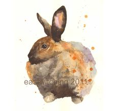 Watercolor RABBIT Bunny Rabbit Art rabbit painting by eastwitching, $18.00