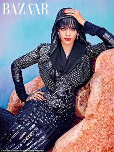 Rihanna looks breathtaking in Harper's Bazaar Arabia cover. Rihanna looks way better with her dress on. Moda Rihanna, Rihanna Riri, Rihanna Style, Rhianna Fashion, Rihanna Dress, Christina Aguilera, Aaliyah, Beyonce, Rihanna Cover