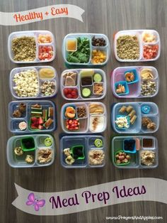 Healthy Meal Prep Ideas ♥ Plus a cute meal planning template + review of popular meal prep containers