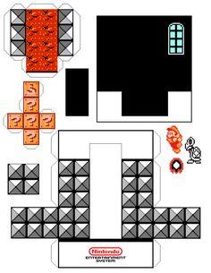 Diorama Mario 3 - Montado - 03 by Jhonat on DeviantArt Super Mario Bros, Lego Super Mario, Super Nintendo, Cube Template, Super Mario Coloring Pages, Mario Crafts, Mario Party, Mario Brothers, Kirigami