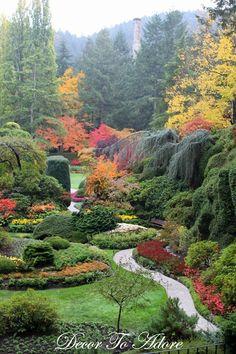 Butchart Gardens, Victoria, Sooke, Canada, British Columbia, travel, budget travel, Décor To Adore, beautiful scenery, beautiful garden, salmon, fall, autumn