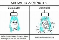 Haha! Shower time is the best thinking time!