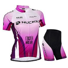 Sponeed Women's Cycle Jersey Bike Clothing Gel Padded * Be sure to check out this awesome product.