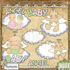 Angel Baby 1 - Cheryl Seslar Country Clip Art