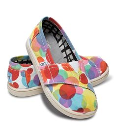TOMS Red Polka Dot Canvas Classics - Tiny by TOMS 507d6a0322