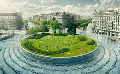 My dream city would be kind of a health city, so everyone would just swin to their destination