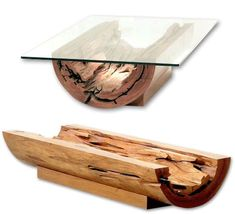 Canoa Coffee Table - Salvaged Tree Trunk
