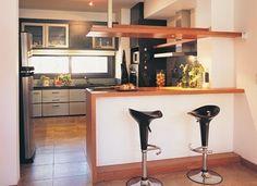 kitchen bar, love it Home Decor Kitchen, Kitchen Interior, Interior Design Living Room, Interior Decorating, Apartment Living, Small Spaces, Sweet Home, House Design, Kitchenettes