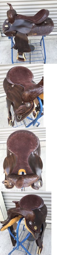 Saddles 47291: 16 New Dark Oiled Leather Western Pleasure Trail Tooled Saddle -> BUY IT NOW ONLY: $199 on eBay!