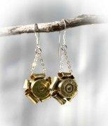 Bullet Rosette Earrings (Brass or Nickel)
