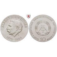 DDR, 10 Mark 1975, Schweitzer, st, J. 1554: 10 Mark 1975. Schweitzer. J. 1554; stempelfrisch 28,00€ #coins