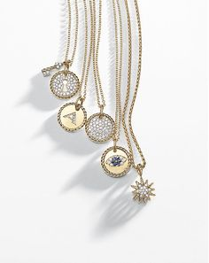 David Yurman Necklaces: lock & key, starburst or just diamonds