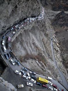 Kabul-Jalalabad Highway  Oh my!  This is no place for the breaks to go out