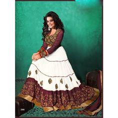 New Designer White Floor Length Anarkali Suit