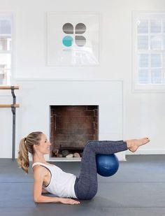 Ab workout that incorporates a pilates ball #PilatesAnyone?