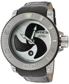Invicta Men's 1313 Sea Hunter Specialty Automatic White Mother-Of-Pearl Dial ...