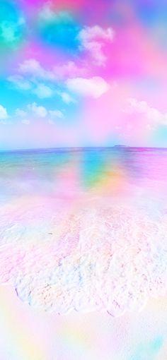 Beach Rainbow Wallpaper - Jason Floyd DIY and Art Gold Unicorn Wallpaper, Pink Wallpaper Laptop, Wallpaper Pink And Blue, Cute Galaxy Wallpaper, Rainbow Wallpaper, Glitter Wallpaper, Iphone Background Wallpaper, Apple Wallpaper, Colorful Wallpaper