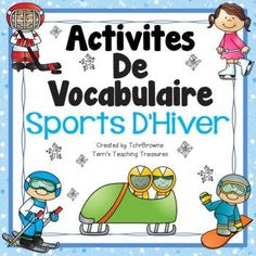 Free winter sports activities perfect for the upcoming Winter Games! Word wall signs and vocabulary activities to help your students learn winter sports vocabulary. This product is intended for use with a French as a Second Language (FSL) class. Simple Sign Language, Baby Sign Language, Second Language, Vocabulary Activities, Learning Activities, Kids Learning, Sports Activities, French Teaching Resources, Teaching French