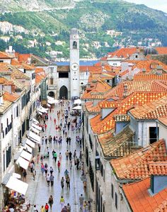 Dubrovnik, Croatia. One of the most beautiful cities I've ever been to. So picturesque. Perfect Mediterranean town.